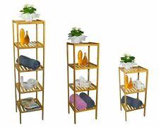 Regal Bambus 4 Ablagen Mehrzweckregal Lagerregal Standregal