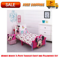 Minnie Mouse 2-Piece Toddler Sheet And Pillowcase Set, Super-Soft 100% Polyester
