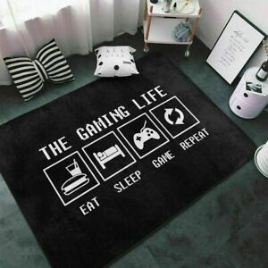 3D NEW The Gaming Life Gamepad Black Home Rug Door Mat Door Floor Mat Carpet