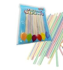 400 Pc Long Flexible Drinking Straws Party Bar Drinking Supplies Plastic Bendy