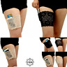 Gabriella Thigh Bands Smooth Over Size Anti Friction tape Black//Beige