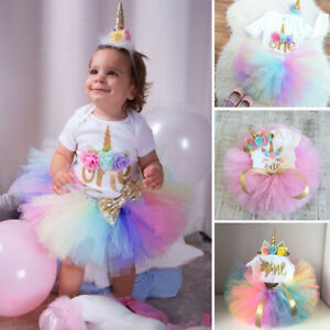 BGFKS Baby Girls Soft Tutu Skirt with Cotton Diaper Cover,1//2st Birthday Party Tutu Skirt Sets