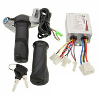 24V/500W DC Motor Brush Speed Controller & Electric Bicycle Bike Throttle Grips