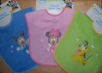 Disney Mickey Mouse, Pluto, or Minnie Mouse, Applique Bib, Baby Shower