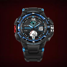 Fashion Men Digital Sports Army Military Quartz Wrist Watch Waterproof