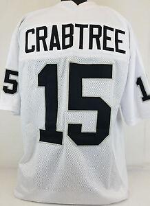 Michael Crabtree Unsigned Custom Sewn White Football Jersey Size - L, XL, 2XL