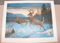 """7967: RC Kray """"Twin Trophies"""" Deer Signed and Numbered LE Print Lithograph"""