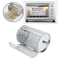 Kitchen Stainless Steel Rotisserie Grill Roaster Drum Dried Nut Oven Cages