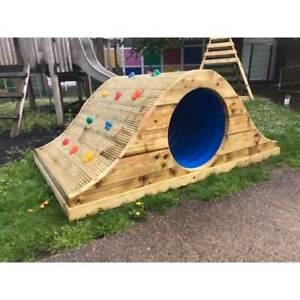 Tunnel Rockwall, Commercial, School Equipment, Playground, Climb, Sensory Unit