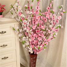 CHEAP Artificial Cherry Spring Plum Peach Blossom Branch Silk Flower Tree Decor