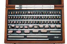 SHARS 81 PCS GRADE B GAGE GAUGE BLOCK SET NIST CERTIFICATE TRACEABLE NEW