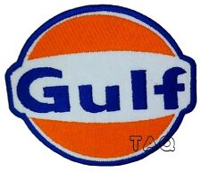 Gulf Oil Gasoline Vintage Biker F1 Racing Iron/ Sew-on Embroidered Patch 213
