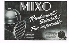 PUBLICITE ADVERTISING   1952   MIXO    avertisseurs éléctromagnétiques