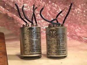 2 Vintage 70s UTC O-2 transformers