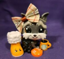 Littlest Pet Shop Pets in the City Jedson Whitebeard 180 Gray Brown Eyes Terrier