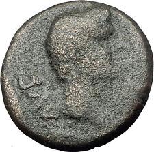 AUGUSTUS 27BC Philippi Macedonia PRIESTS Founding City Oxen Roman Coin i62253
