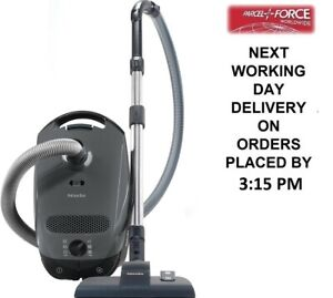 Miele C1POWERLINE Graphite Grey Bagged Cylinder Vacuum Cleaner + 2 Year Warranty