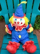 "BIG! 25"" VINTAGE DAYTON HUDSON NYLON CLOWN PLUSH SOFT TOY PAJAMA BAG PUFFALUMP"