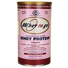 Solgar Whey To Go Natural Strawberry Flavour Protein Powder  454g