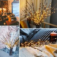 LED Willow Branch Lamp Floral Lights 100 LED Home XMAS Party Garden Decor DE SA