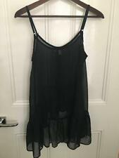 Black Ladies High Low Strap Summer Top Size Small
