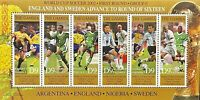 GAMBIA WORLD CUP SOCCER STAMPS SHEET 6V 2002 MNH SPORTS FOOTBALL