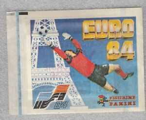 Unopened sticker bag package football UEFA EURO France 1984 84 DN Yug Panini ed