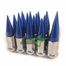 20 CHROME / BLUE SPIKED LUG NUTS 12X1.25 | FOR: INFINITI G35 G37 Q50 Q60 Q70