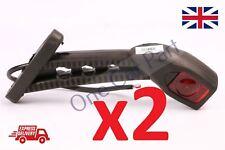 2 Pcs 24 V Ámbar Rojo Blanco LED Luces de posición laterales de goma tallo camión con acoplado