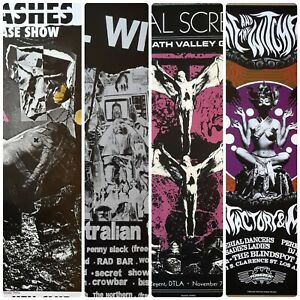 Gig poster set,Gothic,Punk,psych, poster set,13x19 signed limited edition