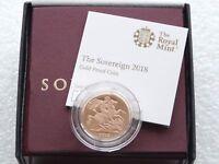 2018 British Royal Mint Gold Proof Full Sovereign Coin Box Coa - Privy Mark