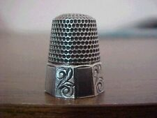 Silver Thimble 10 Panel Band Scrolls on Every Other Panel by Waite-Thresher