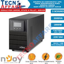 Gruppo Di Continuità UPS Online Onda Sinusoidale Pura 2000VA Pellet Server Njoy