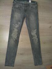 H M Skinny Jeans Zerrissen Hose Shorts Röhre Leggings grau Gr. S M 36 38 28  91e1973885