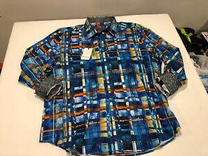 NWT $198.00 Robert Graham Mens Robert Graham LS Buttondown Multi Check Size 3XL