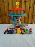 Paw Patrol Look Out Tower Playset Plus 7 Mini Vehicles 🐾