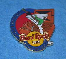 HARD ROCK CAFE 1998 Newport Beach Martini Glass w Cigar Box Pin # 6579