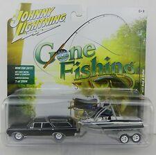 2017 Johnny Lightning *GONE FISHING 1B* Black 64 Olds Vista Cruiser BOAT TRAILER
