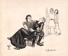 AD&D TSR Dragon Magazine SIGNED Janny Wurts Original Fantasy Art Sketch