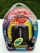 New Sealed Vintage Coby Stereo Cassette Player Cx-26 1998 with Headphones