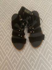Topshop Mid Block Heel Sandals 39 Black