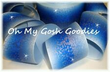 """3"""" Frosted Glitter Royal Ombre Cheer Grosgrain Ribbon For Tic Toc Hairbow Bow"""