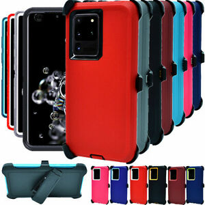 For Samsung Galaxy S20 S20+Plus Ultra 5G Defender Hard Case w/Clip Fits Otterbox
