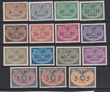 1940 German Poland occupation officials set 15 Unused Stamp