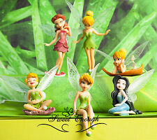 6 Tinkerbell Fairies Figures Disney Cake toppers Decorating