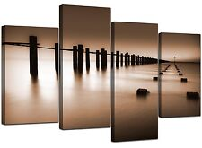 Large Brown Living Room Landscape Canvas Wall Art 130cm Pictures 4088
