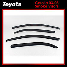 New Rain Guards Window Smoke Black Vent Visors for Toyota Corolla 2003-2008