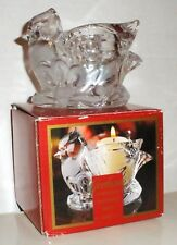 """Gorham Holiday Traditions Christmas Cardinals 3"""" Votive with Tealight Included"""