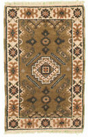 "Hand-knotted  Carpet 2'1"" x 3'0"" Royal Kazak Traditional Wool Rug"