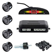 LED Display Screen Car Backup Reverse Parking Radar Alert System 4 Sensors Black